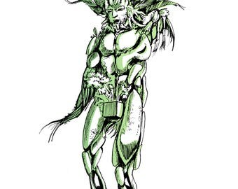 Green Man by Toin Adams