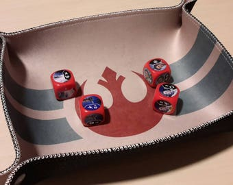 Rebel Print Collapsible Dice Tray with Sewn Edge