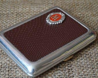 Gift for smoker Gift idea for him Old case Cigarette case Cigarette box Old tobacco box Vintage cigarette Soviet cigarette box Smoking box