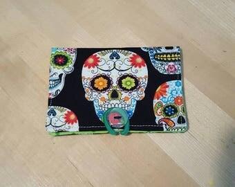 Sugar Skulls Print Cardholder Wallet