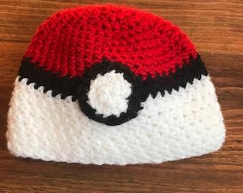 PokeBall Baby Hat