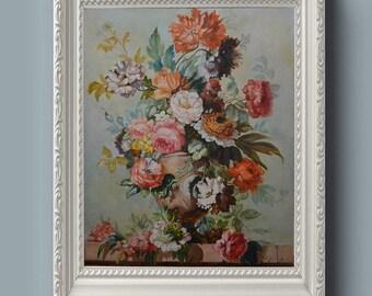 "Dutch still life Original oil painting Canvas on stretcher 19,6 x 16"""