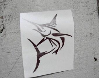 Marlin Decal/ Marlin Sticker/ Tumbler Decal/ Vehicles/ Cars/ Trucks/ Bikes/ Vinyl Decal/Fishing Decal
