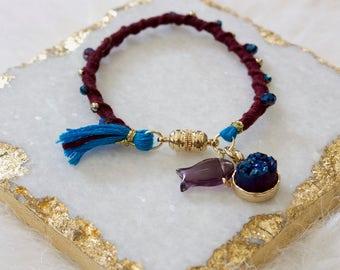 Quartz Charm Bracelet