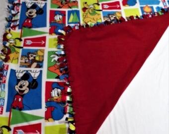 Disney Bedding - Disney Theme - Disney Blanket - Fleece Blanket - Fleece Hand Tied Throw - Fleece No Sew Blanket - Disney Character Decor
