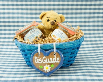Loving gift basket blue