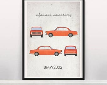Classic Sporting. BMW 2002 Poster