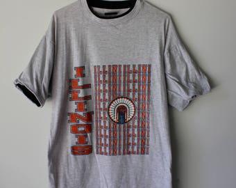 90s University of Illinois Illini T-Shirt // Men's Large