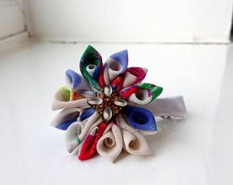 Handmade Flower Alligator Hair / Pram Clip Girls and Womens