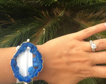 Royal Blue Extra Long Wrap Bracelet