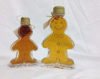 Pure NY Maple Syrup in Gingerbread Man Bottle