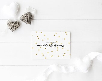 Gold Printable Wedding Card - Will You Be My Bridal Party Bundle - Customise Wedding Card - Bridal Party - Wedding Greeting - Wedding Prints