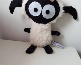 Beige and black sheep little blankie