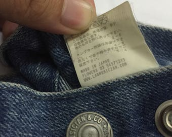 60% sale!!Rare!!!Vintage Lad Musician Jeans size 33 /Comme des Garcons Issey miyake junya watanabe Yohji yamamoto