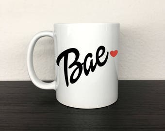 Bae 11 oz White Ceramic Mug