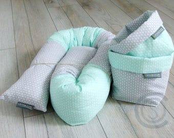Bed snake 140 cm puck worm storage cushion