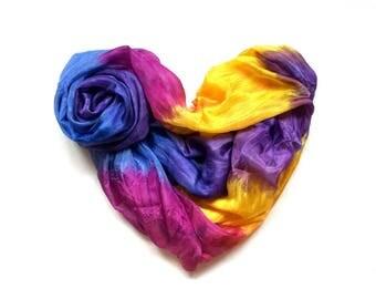 "Natural Silk Batik ""Ianthine"""