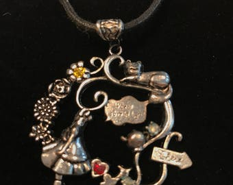 Alice in wonderland style pendant