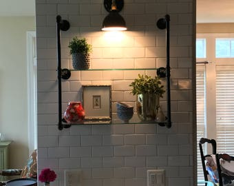 Industrial Glass Shelves