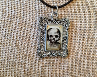 Hand-painted Pirate Skull Necklace