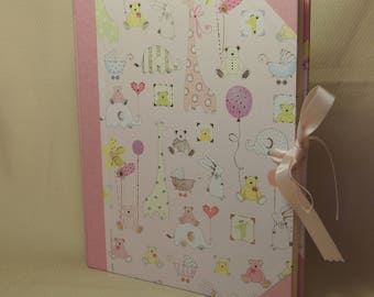 Birth photo album 20 x 25-dis. Baby Pink pad