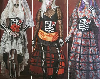 Simplicity 1033 Day of the dead costumes UNCUT sizes 14-22