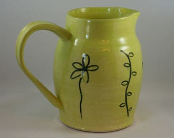 Small citron green pitcher