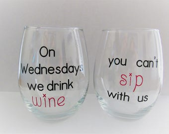 Mean Girls Wine Glass Set