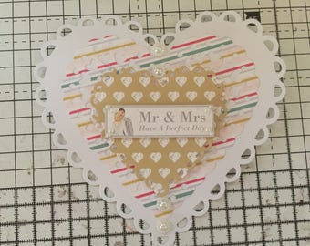 Heart shaped Wedding Card
