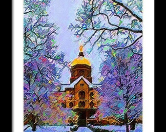 Notre Dame Gold Limited Edition Print
