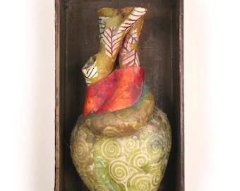 Heart Box (green spirals)