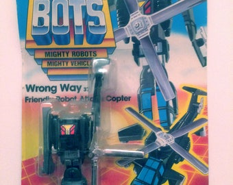 Go-Bots Wrong Way Friendly Robot Attack Copter GoBots Tonka New in Package