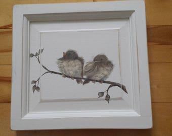 2 birds on branch