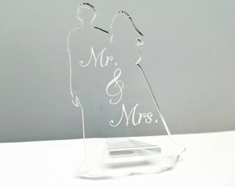 Wedding Place Card - Bride and Groom Place Card - Name Card - Modern Wedding Decor - Acrylic Seating Chart - Wedding Supply - Announcement