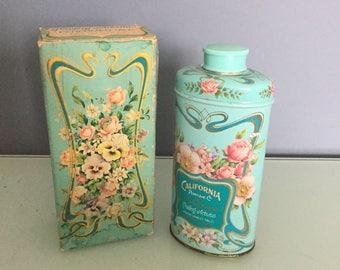Vintage 1977 AVON California Perfume Co Keepsake Perfumed Talc Powder