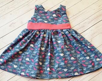 Dinosaur Dress. Toddler Dress. Baby Dress. Little Girl Dress. Dinosaur Party Dress. Dino Dress. Fancy Dino Dress. Girl Dino Clothes.