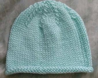 Simple knit baby cap