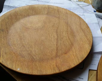 All Natural FInished 9 1/2 inch Wood Plates