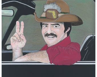 Burt Reynolds in Smokey & The Bandit - A3 limited edition giclee print