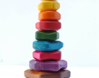 colorful Wooden stacking toy