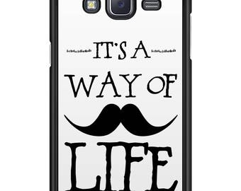 Shell Galaxy Note / Alpha / A / E 01 edges black Moustache