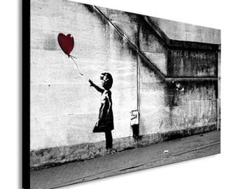 Banksy Balloon Girl There Is Always Hope Canvas Wall Art Print - Various Sizes