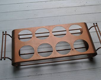 Mid century copper beverage caddy