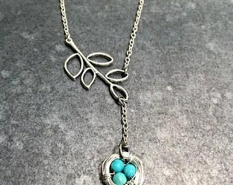 Nest on a Branch Necklace