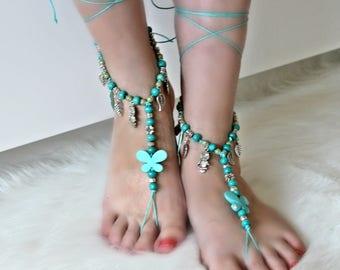 Boho Beach Jewelry Barefoot Sandals
