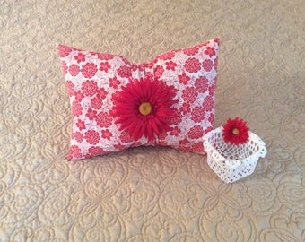 Decorative Embellished Bow Pillow