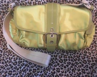 Mint green Coach bag