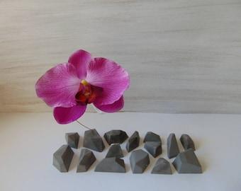 Geometric Vаse, Hanging Glass vase, Geometric Concrete Vase, Mini Bottle Vase,