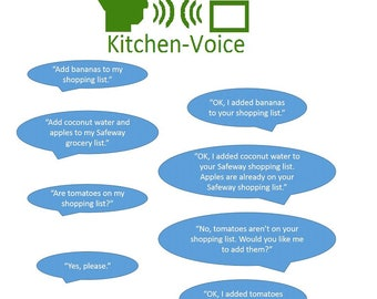 Voice Only Shopping List, Just Talk With It!