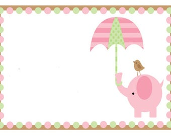 Pink Baby Shower Invitation for Girl